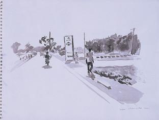 promeneur et moto Bamako, Collection particulière