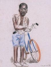 Garçon à la byciclette,  collection particulière