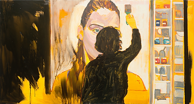 Samy, 2012-2014, huile sur toile, 95x177cm.