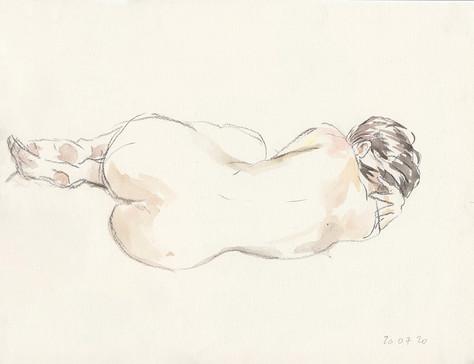 Sophie allongée