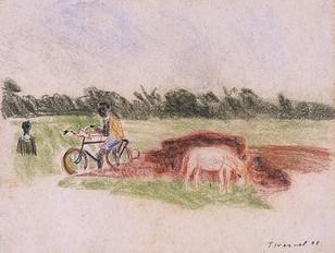 Koro, à vélo, collection particulière
