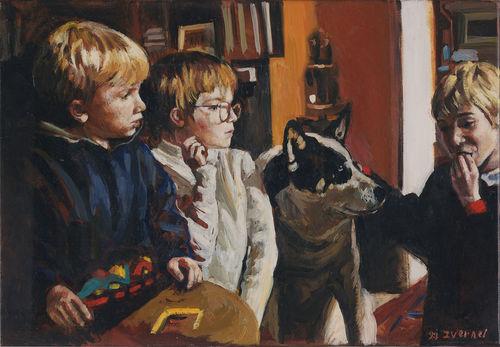 Tex et les petits enfants de Josette et Daniel