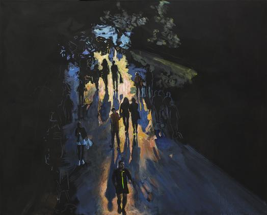 Promeneurs au crépuscule
