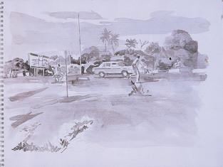 Sous la pluie, Bamako
