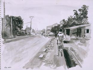 Promeneur, Bamako, Collection particulière