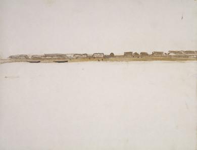 le village vue du fleuve,  collection particulière