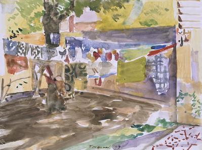 Linge qui sèche, Bamako,  collection particulière