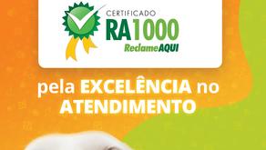 Petland conquista Certificado de Excelência no Atendimento do site Reclame AQUI