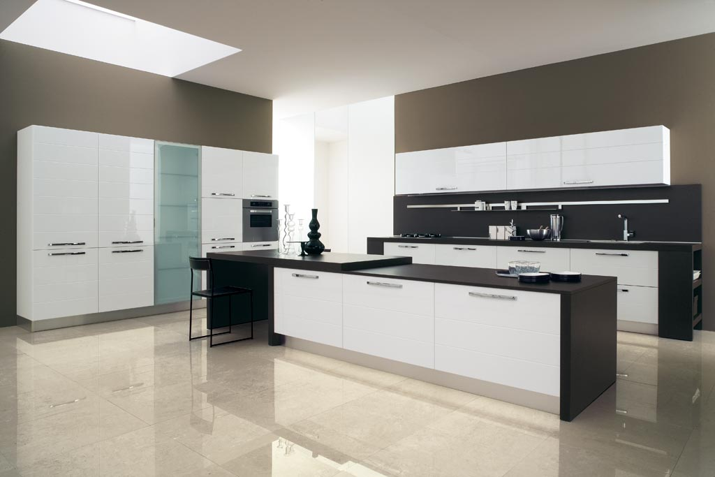 Cucine Moderne Bianche E Nere HM07 » Regardsdefemmes