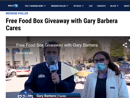 Free Food Box Giveaway with Gary Barbera Cares