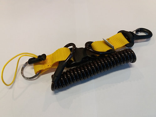 A047-5 Shockline with plastic hook - yellow