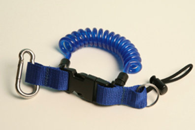 A046 Coil lanyard blue