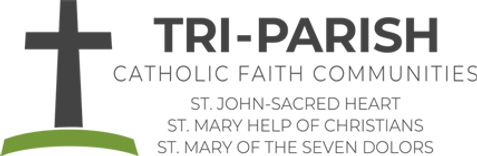 Tri-parish logo-horizontal, colored 140h