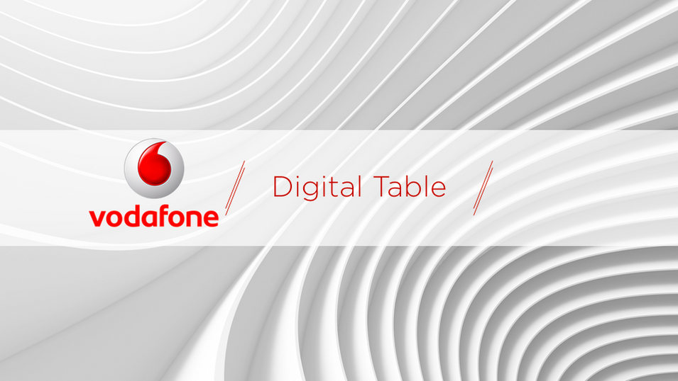 Vodafone Digital Table Interface Design