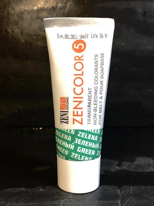 Zenicolor - Green - Singular Tubes - Specially Designed for Melt & Pour Soap