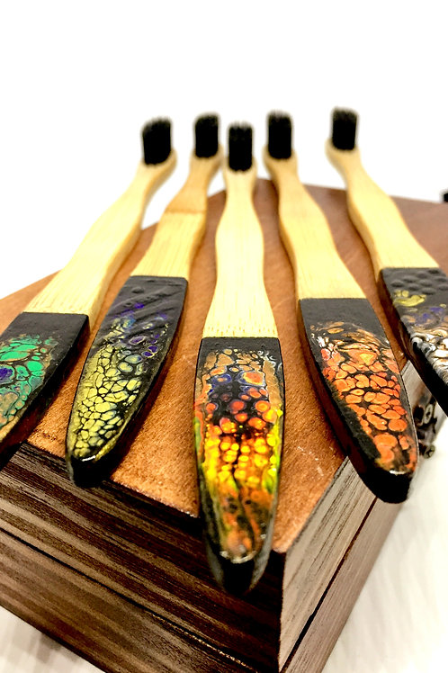 Bamboo Toothbrushes with a Twist
