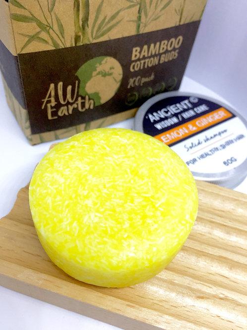 Lemon & Ginger Shampoo Bar - 60g