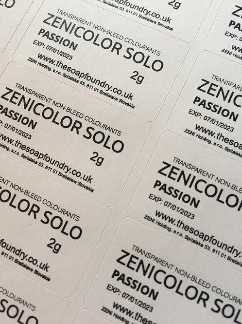 ZENICOLOR SOLO - Sample Set of 12 x 2g Samples