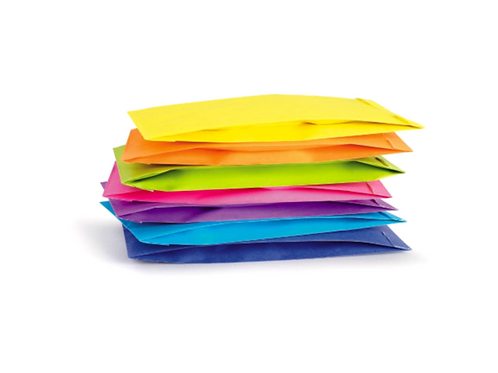 Acid/Dayglo Kraft Bags - Assorted Colours
