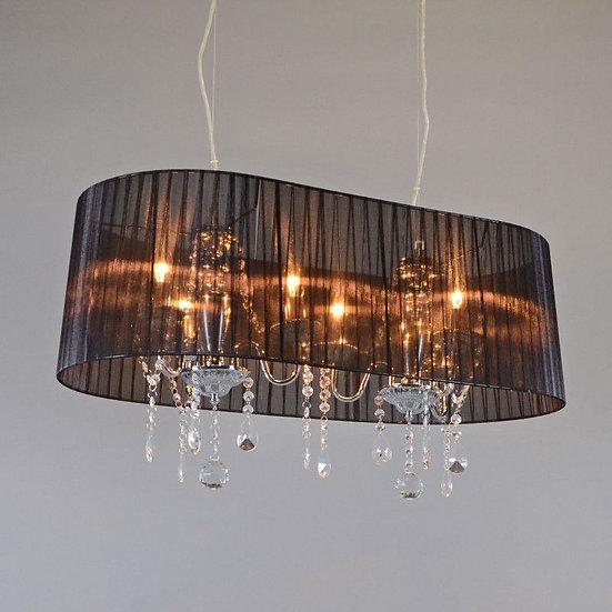Lustre ANNE-CATHERINE 80cm noir