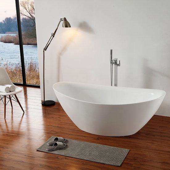 ZUCCHERO - baignoire îlot ACRYLIQUE avec robinetterie