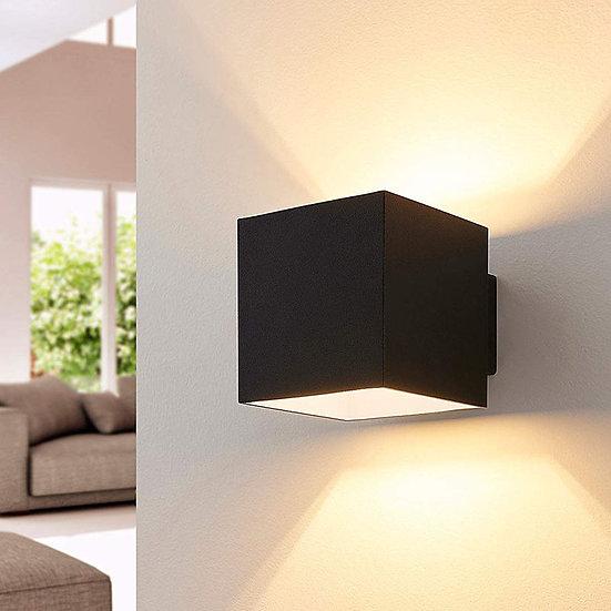 Applique moderne ROCCO cube noir