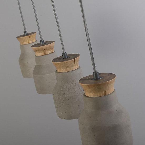 Suspension HORMIGO 75cm béton/bois