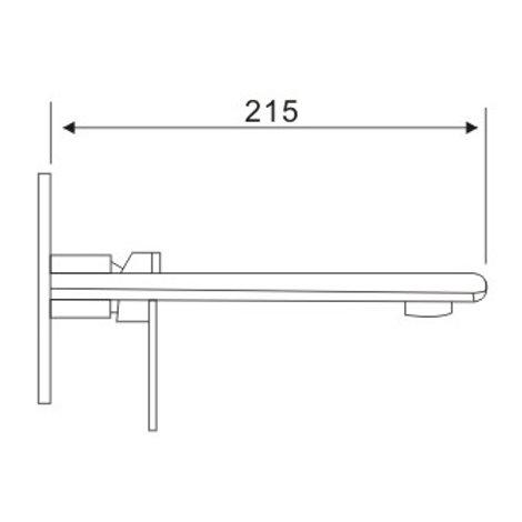 ALANNO 4508C - Mitigeur mural pour vasque   HomEnergy