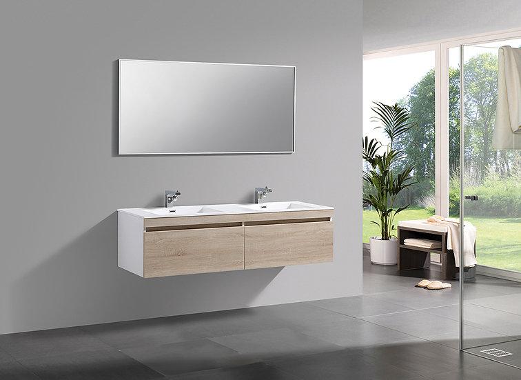 MILANO 1600 - Meuble double vasque encastré