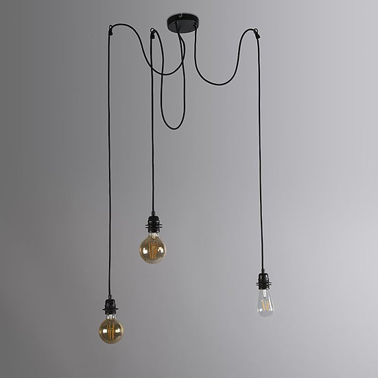 Suspension CAVA 3 120cm noir
