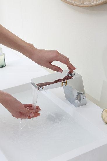 NETTUNO NT6960 - Mitigeur lavabo ou vasque avec bec cascade finition chromé