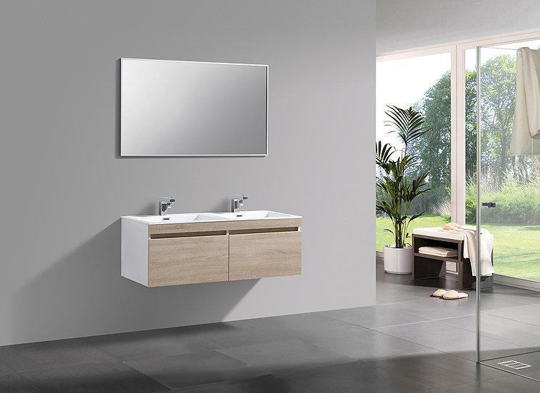 MILANO 1200 - Meuble double vasque encastré