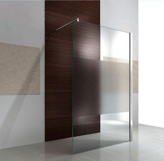 MINA EX101 - paroi de douche italienne en verre satiné partiel