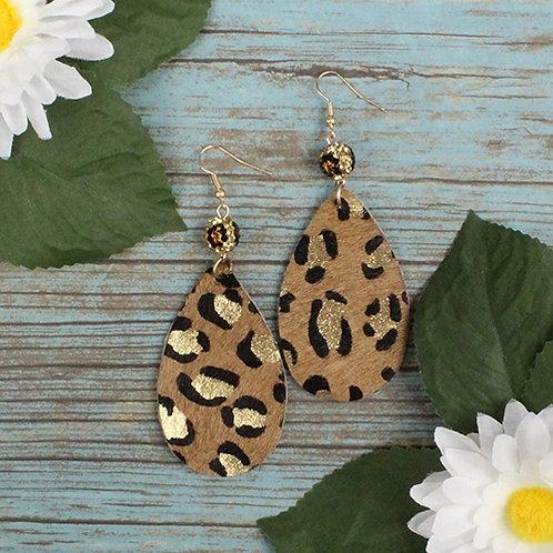 Leopard Earrings Dark