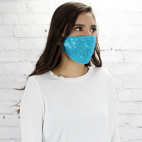 Sequin Mask Turquoise