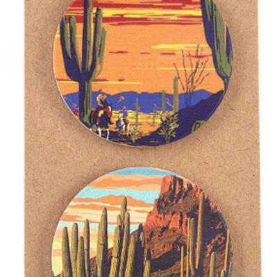 Desert Print Car Coaster