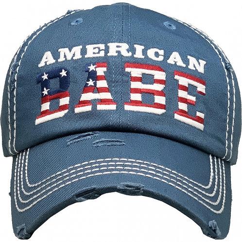 American Babe Hat Blue