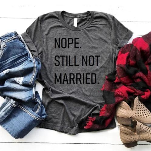 Nope. Still Not Married