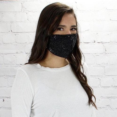 Sequin Mask Black