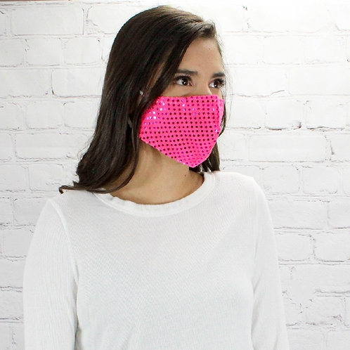Sequin Mask Pink