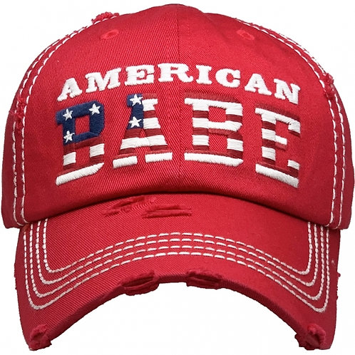 American Babe Hat Red