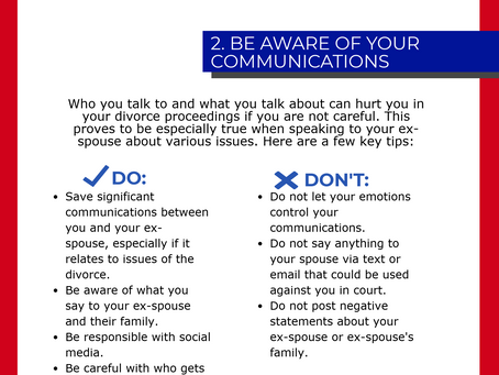 Infographic - Four Tips from the Divorce Lawyers Here at Riddell, Aimar & Brehm LLC