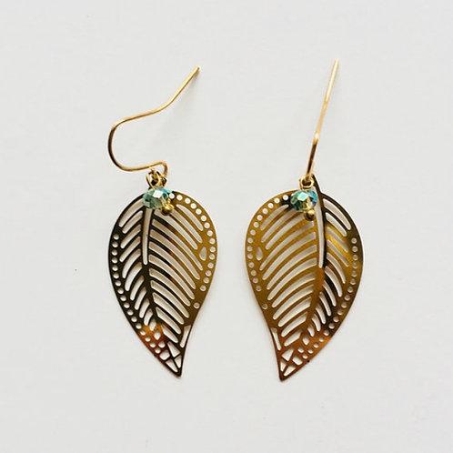boucles d'oreilles aloha or