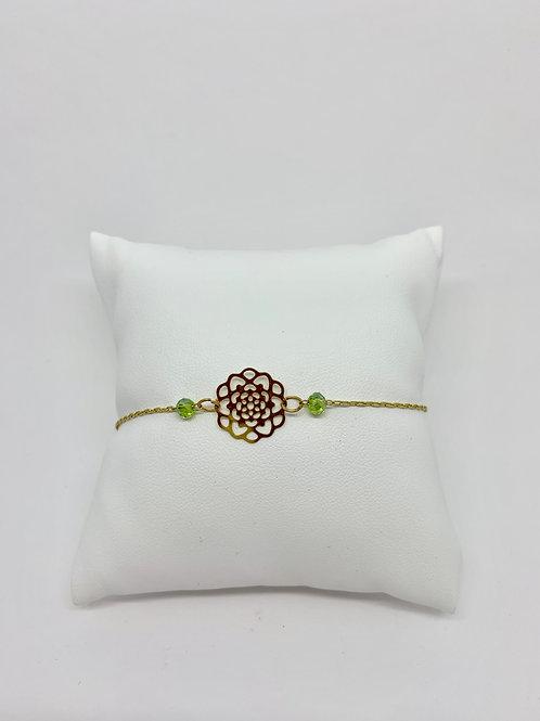 bracelet rosace or