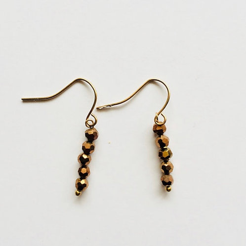 boucles d'oreilles apache or