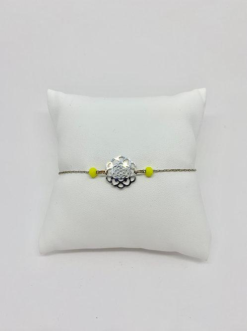 bracelet rosace argent