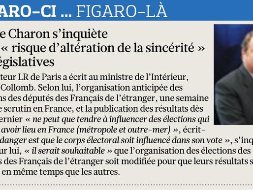 Le Figaro - Pierre Charon s'inquiète d'un risque d'altération de la sincérité des législatives