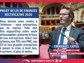 Emmanuel CAPUS : PJL de Finances rectificative pour 2020