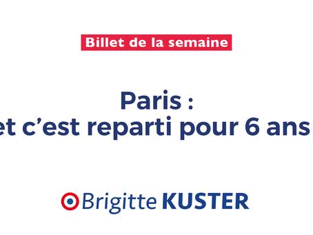 Paris : et c'est reparti pour 6 ans !