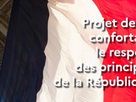 Examen du projet de loi confortant les principes de la République